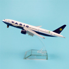 16cm Metal Alloy Plane Model Brazil Air VARIG B777 Airways Boeing 777 Airlines Airplane Model w Stand Aircraft Crafts Gift