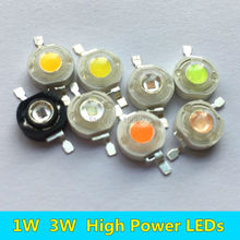 30 PCS 1W 3W LED Diode Chip High Power LEDs Light Source white warm red green yellow orange purple ice blue full spectrum 45mil