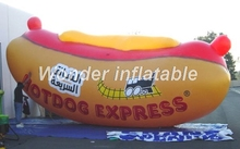 Free shipping full printed giant standing advertising balloon inflatable hot dog inflatable sausage for promotion