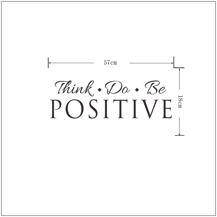 HTB1KlLrh7fb uJjSsrbq6z6bVXax - Think Do Be Positive Vinyl Quote Wall Sticker