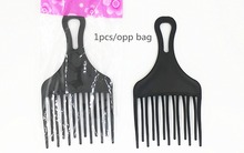 1pcs Plastic High and low gear comb, hair comb, hair fork comb insert afro hair pik lift disc combs(China)