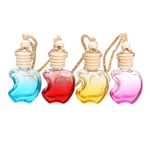 Car Perfume Bottle For Essential Oils Crystal Glass Colorful Empty High Quality Air Freshener Perfume Pendant Auto Ornament(China)