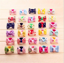 2017 Fashion Korean Cute Headband Bow Candy Color Towel Elastic Hair Bands Accessories Print Flower Ties for Girls Gift 10 Pcs(China)