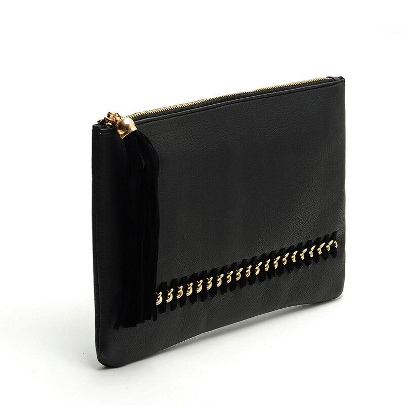 Naivety 2016 New Fashion Women Tassel Clutch Purse Bag PU Leather Evening Party Satchel Handbag AUG03 drop shipping<br><br>Aliexpress