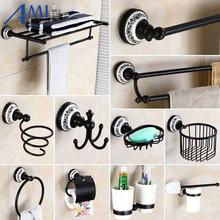 83BP Series Oil Black BronzeCopper Bathroom Accessories Towel Shelf Towel Bar Paper Holder Cloth Hook Soap Dish Cup Holder