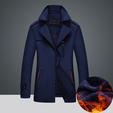 men winter jakets Plus velvet thick coat in the long windbreaker(Asian size M-4XL)(China)