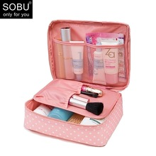 SOBU Waterproof Portable Zipper Cosmetic Bag dot beauty Case Make Up Tas Purse Organizer Storage Travel Wash Pouch K1049