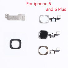 "1set NEW Home Button Flex Cable Holding Gasket Rubber Spacer Metal Parts for iPhone 6 4.7""/6plus 5.5"" Black/White/Gold Assembly"