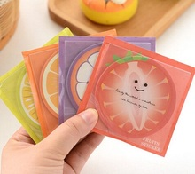1pack/lot New Fruits design Notepad Sticky note Note pads Memo Memo Pads Writing scratch pad
