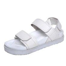 c79d28962e6 Women Summer Gladiator Sandals Women Flat Sandals PU Leather Shoes Woman  Sandalias Mujer 2018 Sandalia Feminina