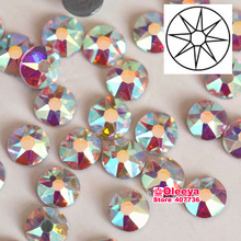 Excellent Quality Best Grade SS10 SS16 SS20 SS30 Clear AB Iron On Hotfix Crystal Hot Fix Rhinestone FlatBack For Motif  Y3546
