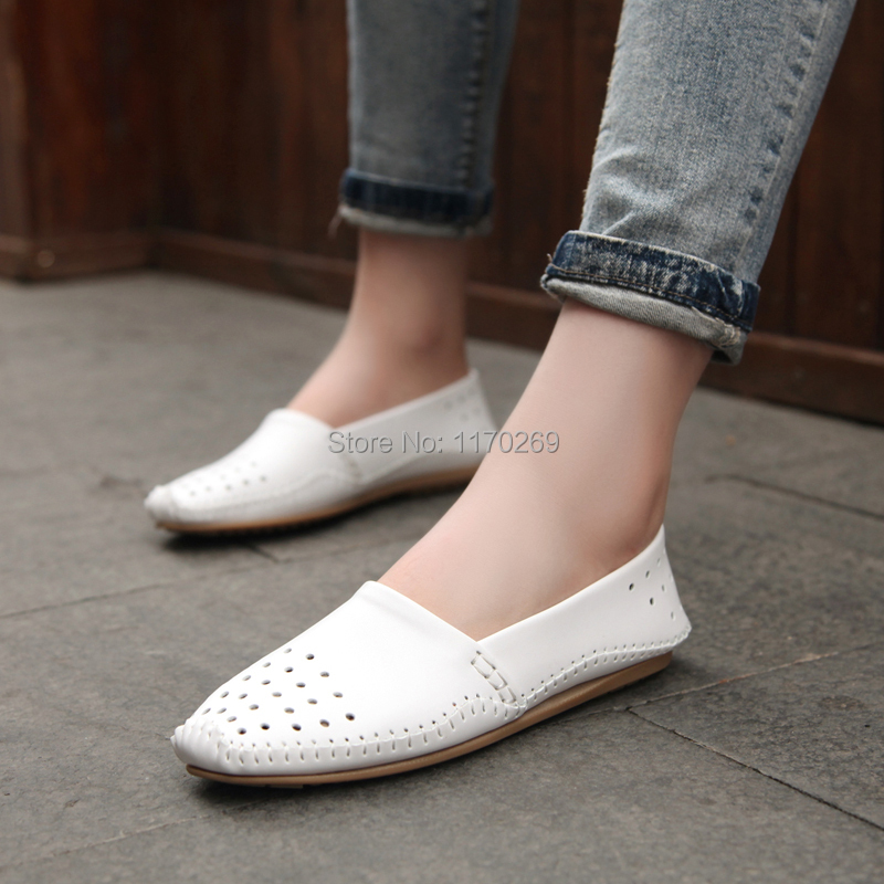 2015 Autum Women genuine leather drivers shoes cowhide boat shoes flexible loafer lady fashion oxford lady loafers free shipping<br><br>Aliexpress