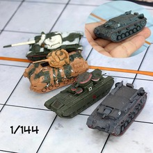 1:144 6cm Mini Tank Model Toy Cars World War II German Military Scene Ornaments World Action Figures For Children Toys Gifts(China)