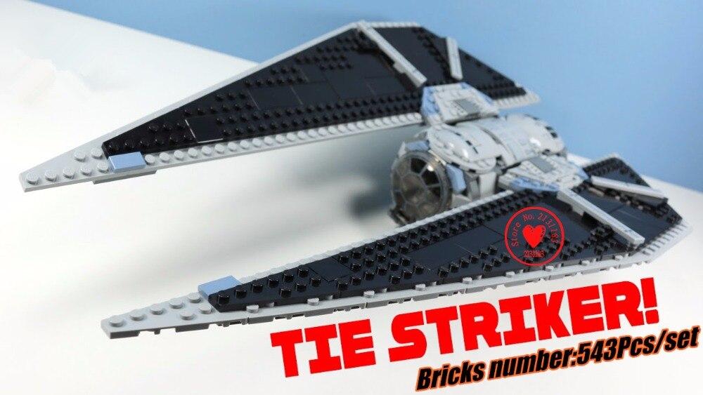 2018 Star wars X-wing Model Building Blocks kit Bricks TIE Striker Toys 75154 Compatible legoes gift kid star wars set <br>