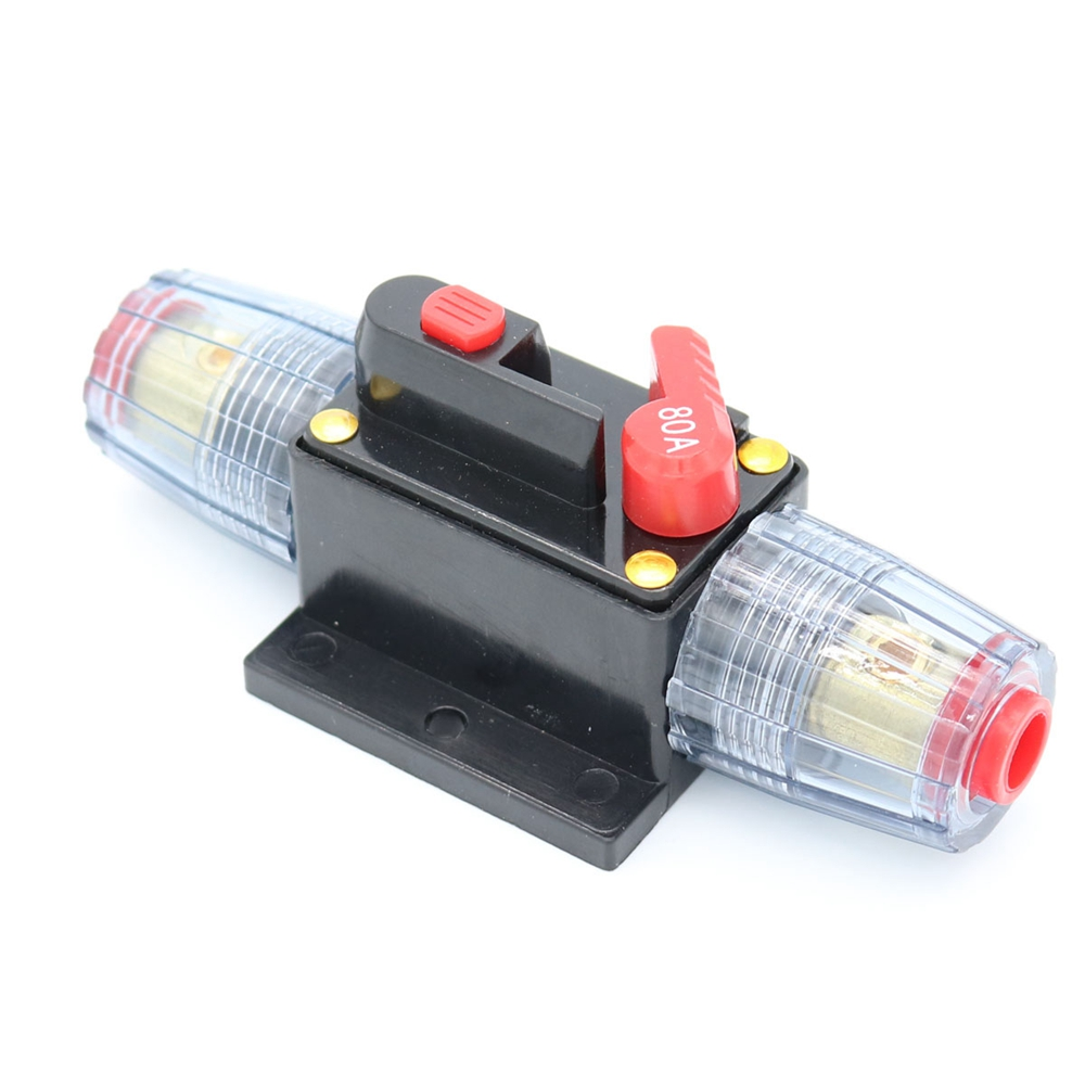 80 Amp In-Line Circuit Breaker Stereo//Audio//Car//RV 80A//80AMP Fuse 12V-24V