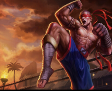 halloween costume lol Lee Sin the Blind Monk cosplay costume full set(China)