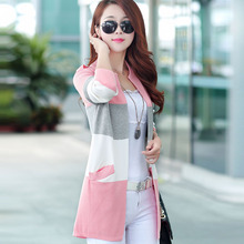 Fashion Cashmere Spell color Sweater Slim Women Cardigan Sweater Female O-Neck Knitted Coat Slim Sweater Plus Size S-4XL