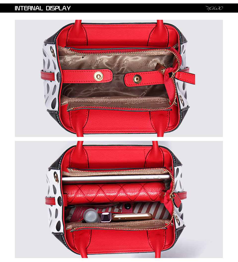 NAWO Famous Brands Women Leather Handbags Designer Women Bag Dot High Quality Shoulder Messenger Bags Luxury Hand Bags Female 5