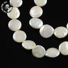 "Natural Keshi Pearl Bead Strands, Flat Round, AntiqueWhite, 11~12x4~5mm, Hole: 0.8mm; about 30pcs/strand, 14.8""(China)"