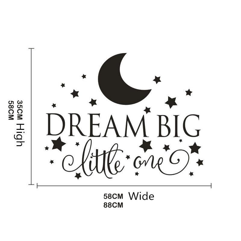 HTB1KlgVRFXXXXaNXVXXq6xXFXXXI Dream Big Little One Quotes Wall Decal