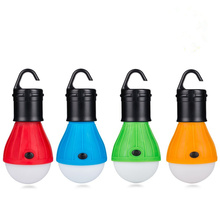 Camping Lantern Outdoor Hanging Led Camping Tent Light LED Bulb Waterproof Lanterns Night Lights Use 3*AAA Battery Lantern(China)