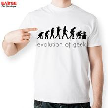Hot Sale Funny Science Geek T Shirt Fashion Summer Home Style White Short Sleeve T-shirt Men Brand Evolution Printed Tshirt