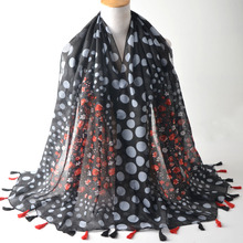 Scarves 2017,british style,cotton viscose scarf,polka dot scarf,Muslim hijab,shawls and scarves,shawls wraps,cape,flower shawl