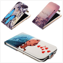 For HTC Desire 628 dual SIM Vertical Case,Fashion Printed Blue Butterfly & Wolf Girl Flip PU Leather Mobile Phone Case