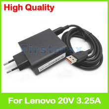 20V 3.25A 5.2V 2A USB AC Power Adapter for Lenovo Miix 4-12ISK tablet pc charger ADL65WDC ADL65WDD 5A10G68670 5A10G68671 EU Plug(China)