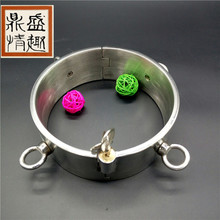 Buy Stainless Steel Slave Collar high 6cm Sex Restraint Bondage Collar sex adult collars Sex Toys Couples Adult games