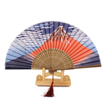 New Hot Sale Folding Japanese Fujiyama Silk Bamboo Hand Held Fan Wedding Party Dance Gift Party Wedding Favors Decoration