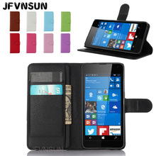 JFVNSUN Case for Microsoft Nokia Lumia 650 NEW Card Slot Wallet Magnetic Leather Flip Cover for Nokia Lumia 650 Stand Phone Bag