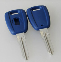 Blue Transponder Chip Key For Fiat Car Key Replacements GT15R Blade With Logo