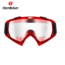 HEROBIKER Motorcycle Goggles Clear Glasses Riding Paintball Eyewear Ski Snow Motocross Off-Road Dirt Bike - Top-touch Technology Co.,Ltd store