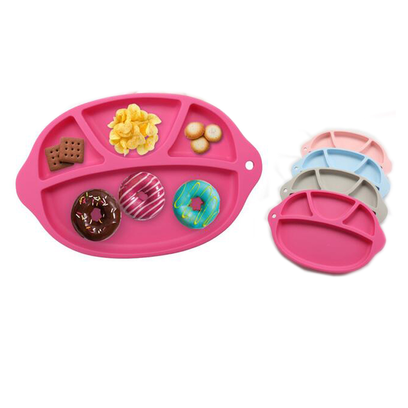 Silicone-Baby-Dinner-Plate-Slip-resistant-One-Piece-Silicone-Baby-Feeding-Food-Placemat-Bowl-Children-Dishes