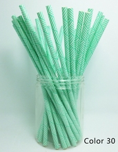 25 Pcs/Pack Paper Straws Creative Design Drinking Straw For Wedding Party Birthday Decoration Color 30