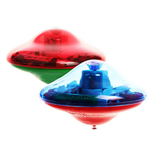 Laser Color Flash LED Light Music Gyro Peg-Top Spinner Spinning Kids Toy(China)