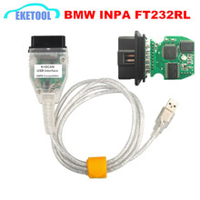 High Quality INPA K+CAN K+DCAN USB Diagnostic Interface For BMW INPA OBD2 Cable Ediabas INPA FT232RL Professional For BMW Cars