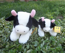 lovely prone cow plush toy soft Dairy cow doll birthday gift b4882