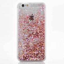LOVECOM Glitter Dynamic Liquid Diamond Quicksand Case For iPhone 4 4S 5 5S 5C SE 6 6S 7 8 Plus X Transparent Hard Phone Case(China)