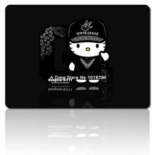 hello kitty mouse pad Black cute notebook mousepad laptop anime mouse pad gear computer gaming mouse pad gamer play mats(China)