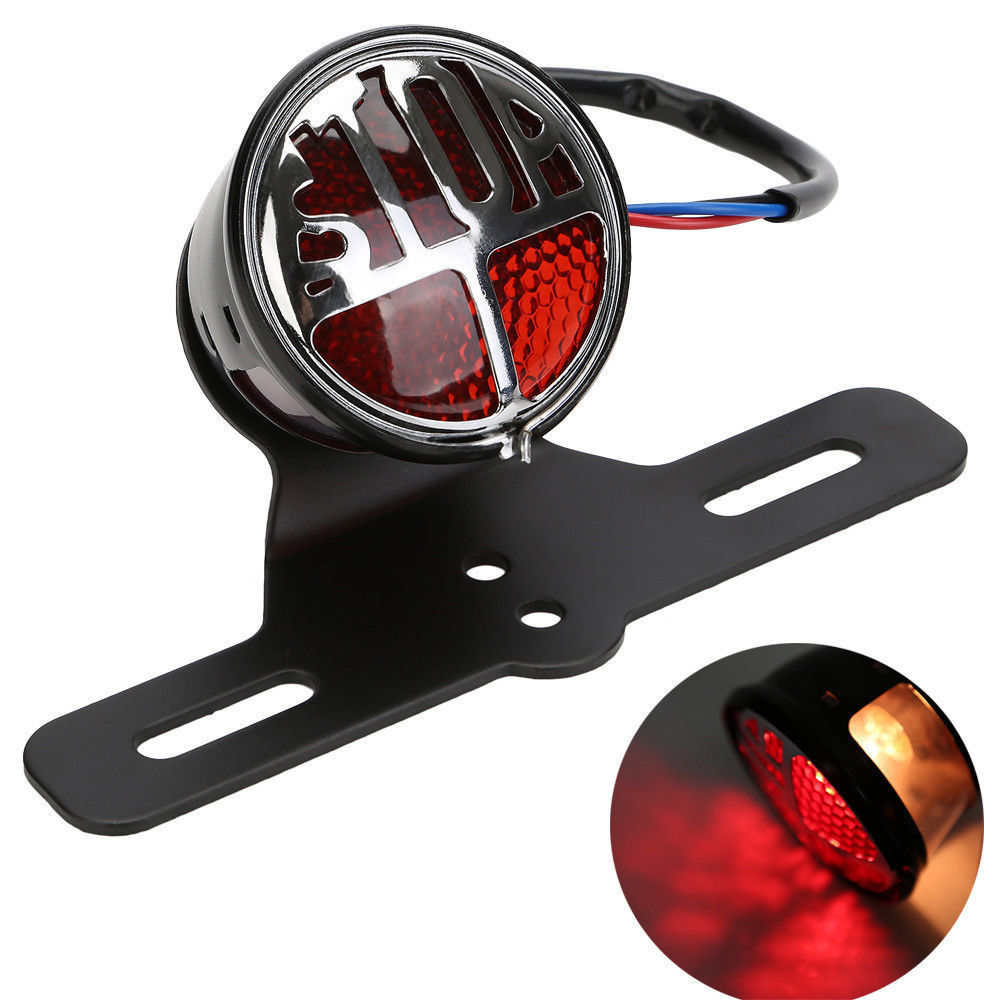 Hot Sale High Quality Side Mount License Plate Tail Light Rear STOP LED For Harley Bobber Bikes Replacement <br>