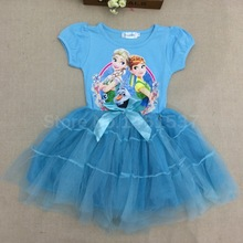 baby girls dress kids dress for girls vestidos infantis quality princess anna elsa dress children dressy