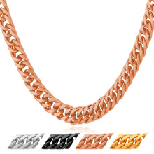 Buy Cuban Curb Link Chain Necklace Mens Jewelry Gold/Rose Gold/Black Plated Wholesale Party Gift Accessories N843Y for $5.98 in AliExpress store