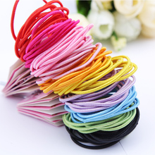 10PCS/Lot Simple Children Colorful Hair Rope Elastic Hair Bands Rubber Little Girls Small Size Headband For Kid Hair Accessories