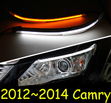 Car-styling,Camry daytime light,2012~2014,chrome,LED,Free ship!2pcs,Camry fog light,car-covers,Camry headlight, Camry