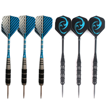 Mayitr 3PCS/SET Professional Steel Needle Tip Darts With Dart Flights Aluminum Shafts 23g Blue Flame Dart(China)
