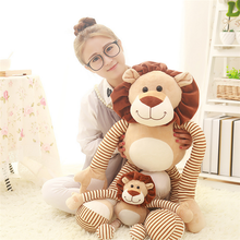 Lovely Lion Plush Dolls Stretched Hands&Feet Cartoon Lions Kids Toys Pillow Birthday Present 45cm/90cm