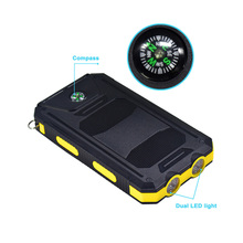 Solar Power Bank Charger Battery 20000mah Universal Portable Powerbank High-Capacity External Battery Charger Cases Samsung