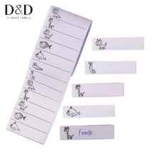 D&D 200pcs/pack White Washable Iron on Name Labels Garment Fabric Tags Marker Set for School Clothes Sewing Accessories(China)